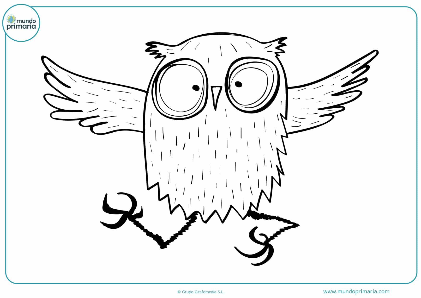 dibujos de búhos difíciles para colorear
