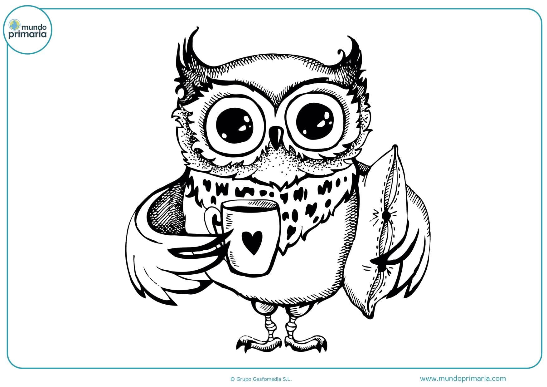 dibujos de búhos infantiles para colorear
