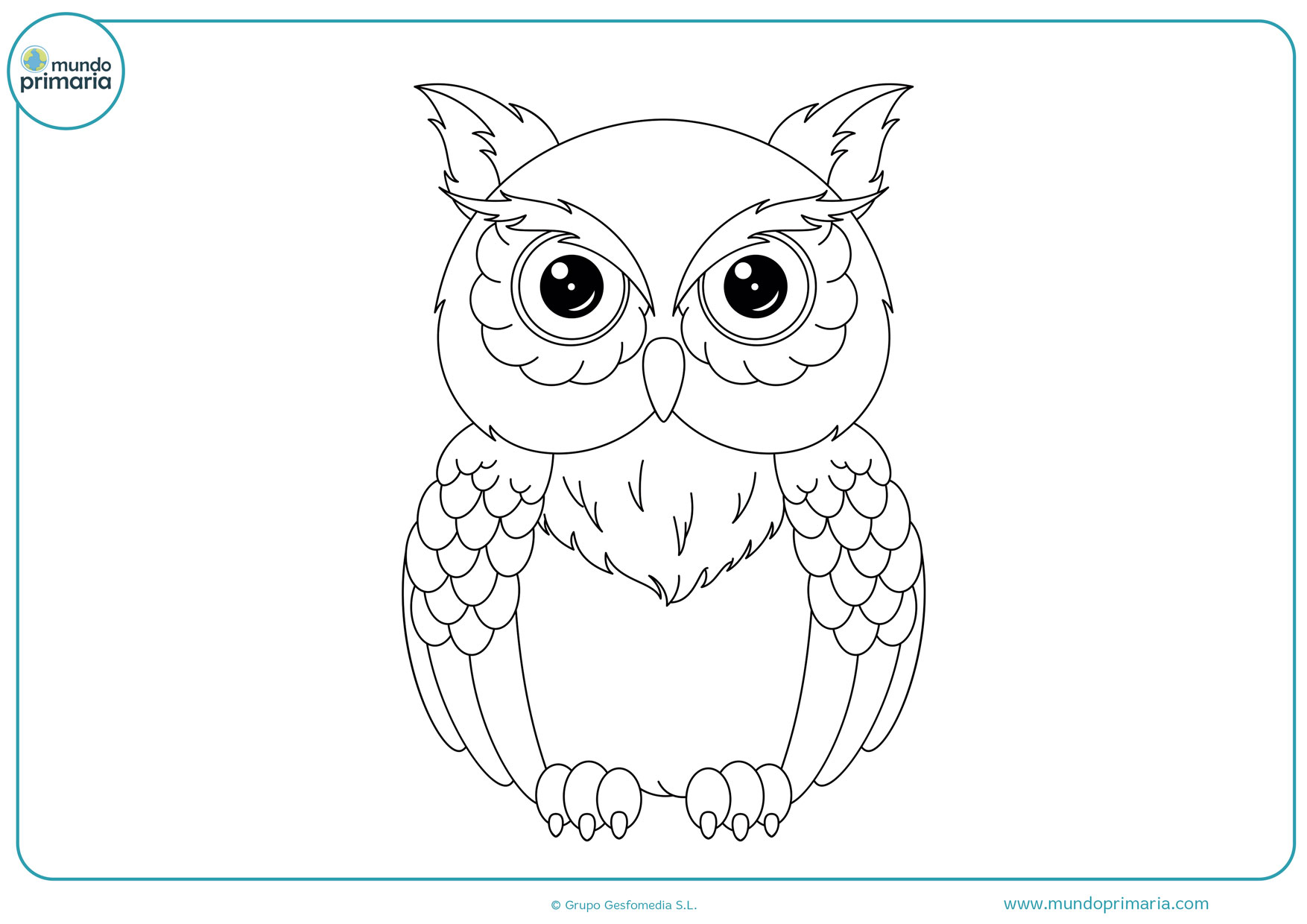 dibujos de búhos para imprimir y colorear
