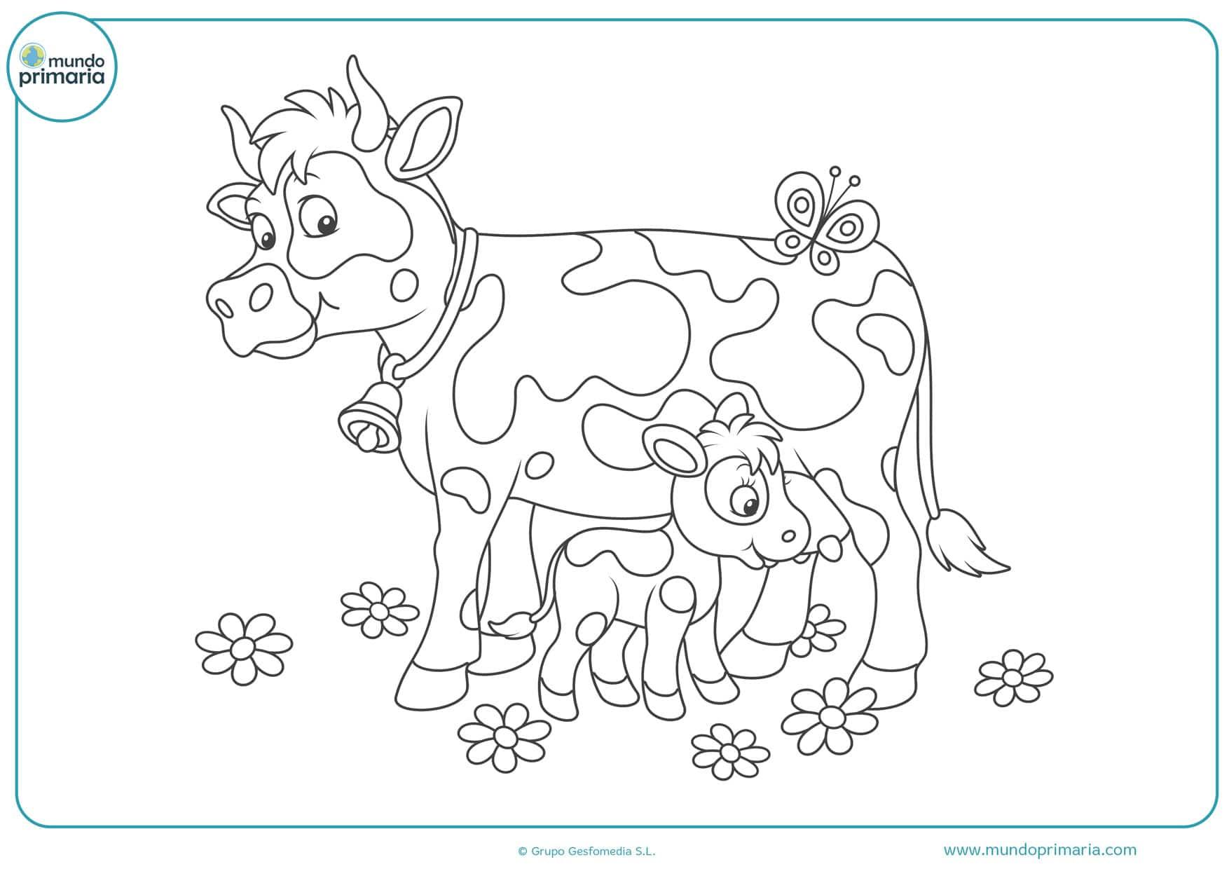 dibujos de cabezas de vacas para colorear