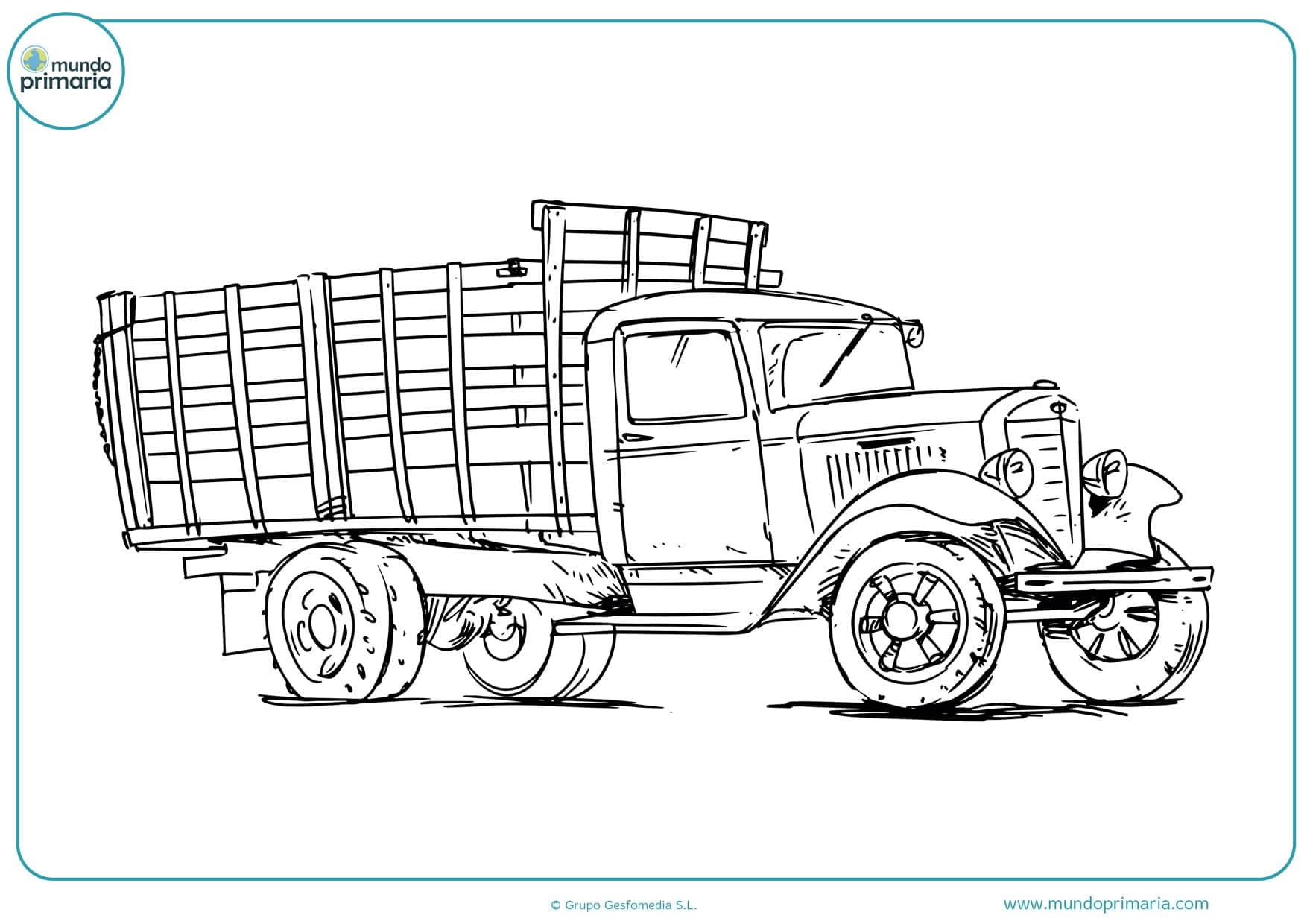 dibujos de camiones antiguos para colorear