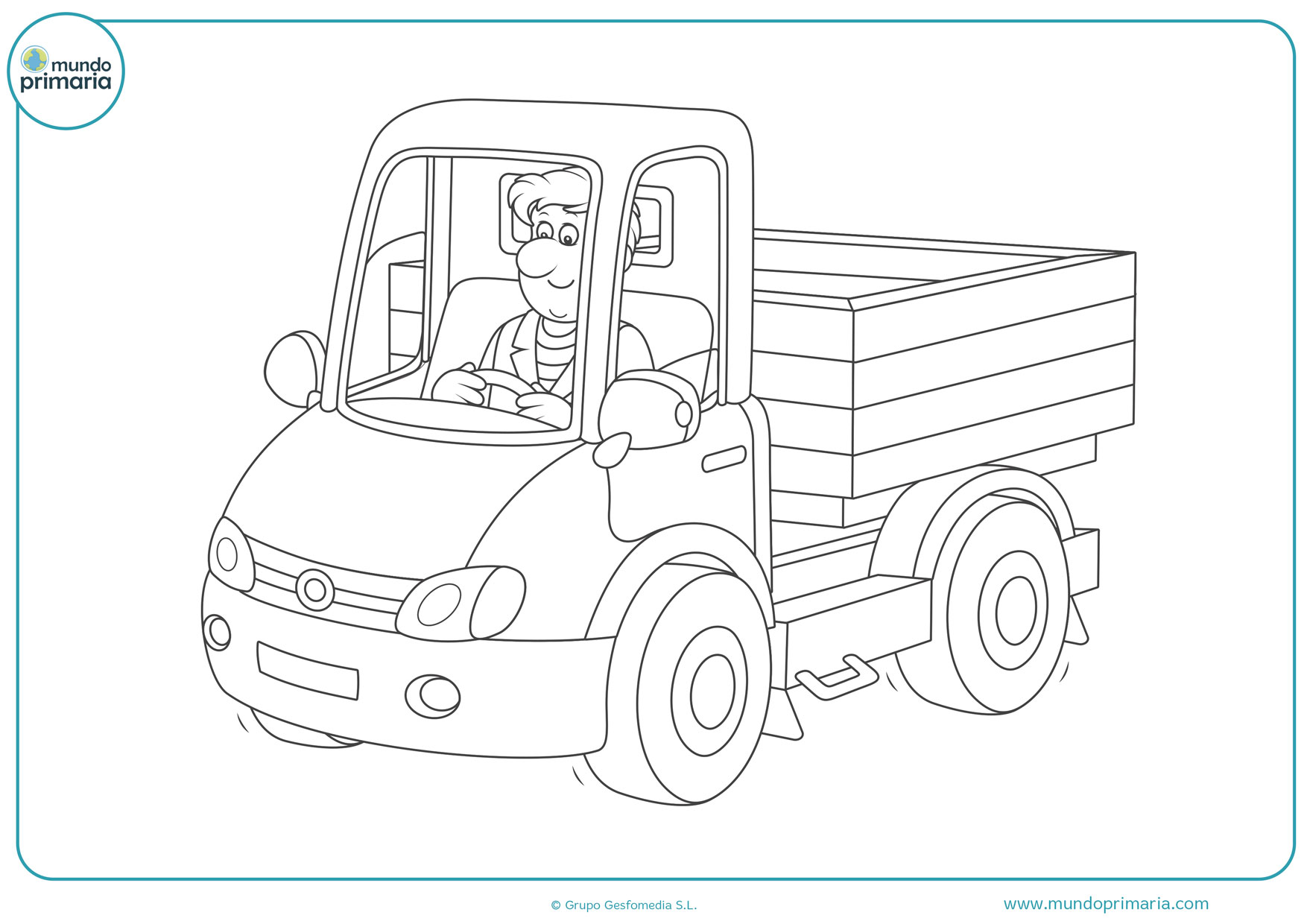 dibujos de camiones de basura para colorear
