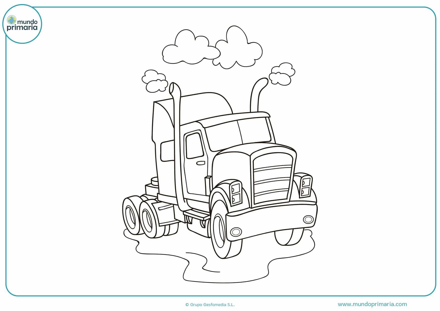 dibujos de camiones de carreras para colorear