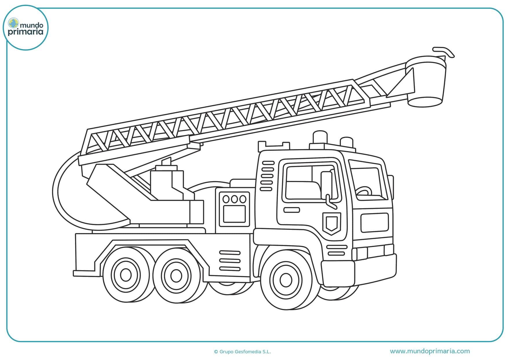 dibujos de camiones grúas para colorear