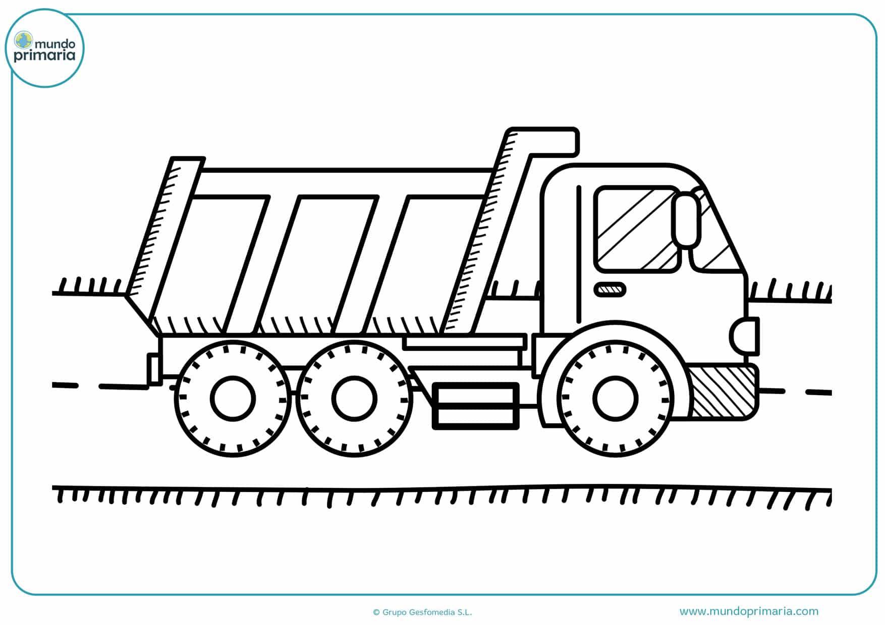 dibujos de camiones infantiles para colorear