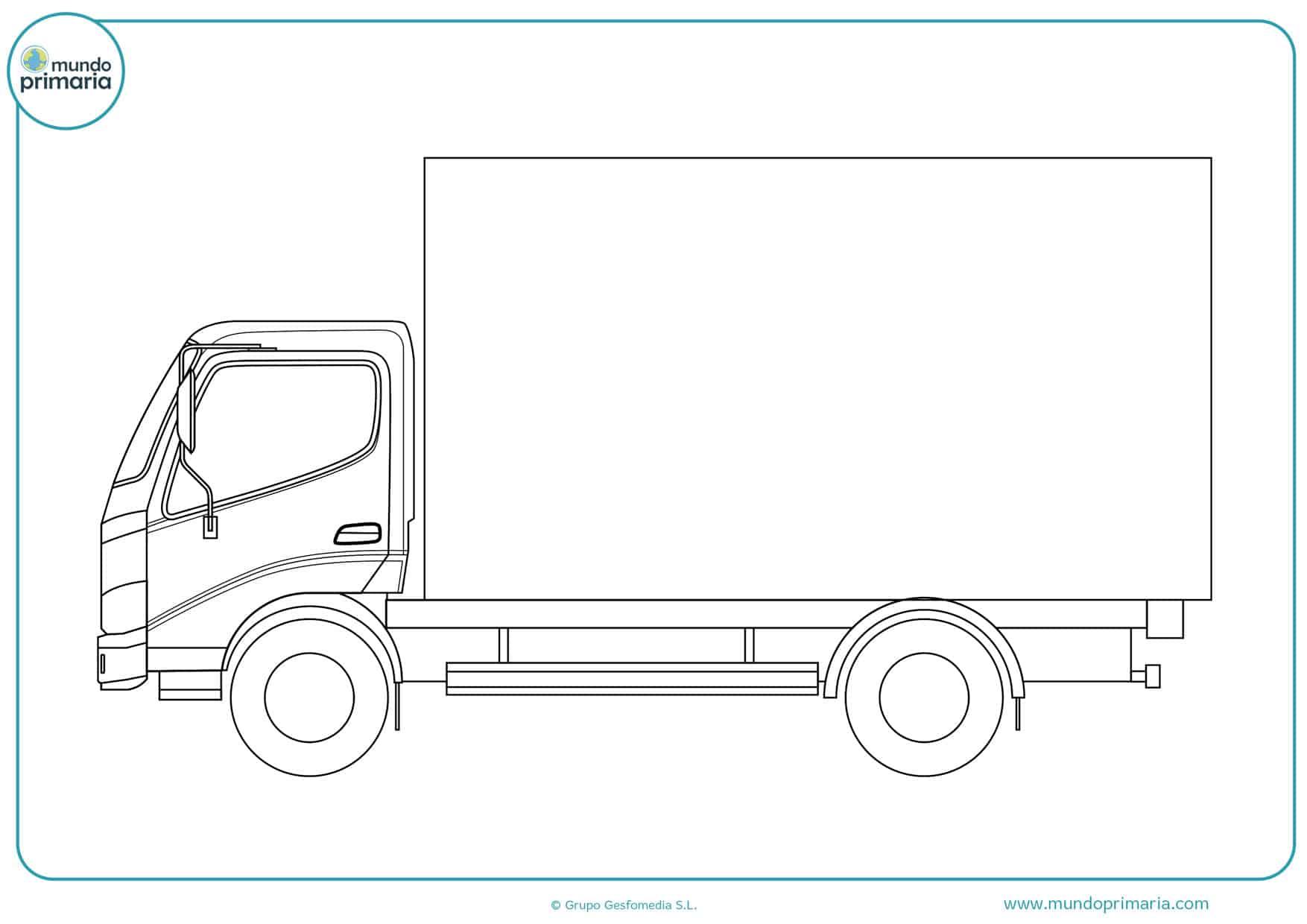 dibujos de camiones man para colorear