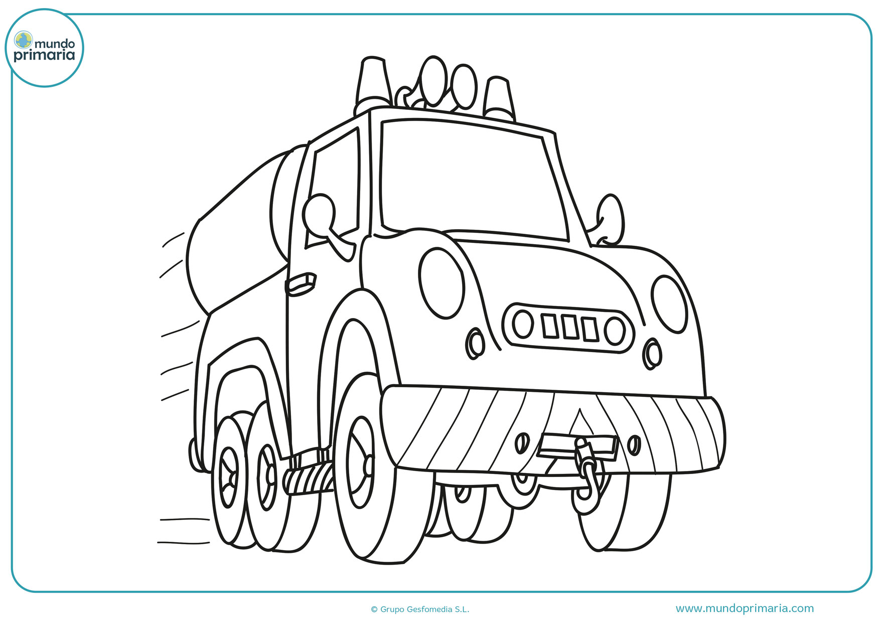 dibujos de camiones para colorear gratis
