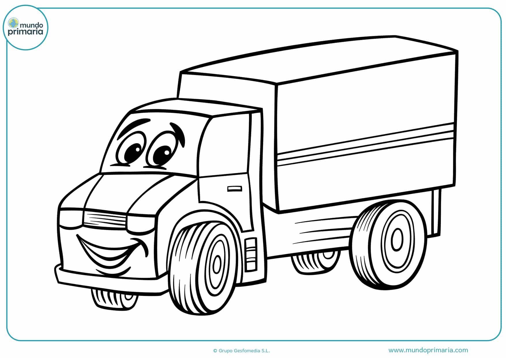 dibujos de camiones para colorear e imprimir
