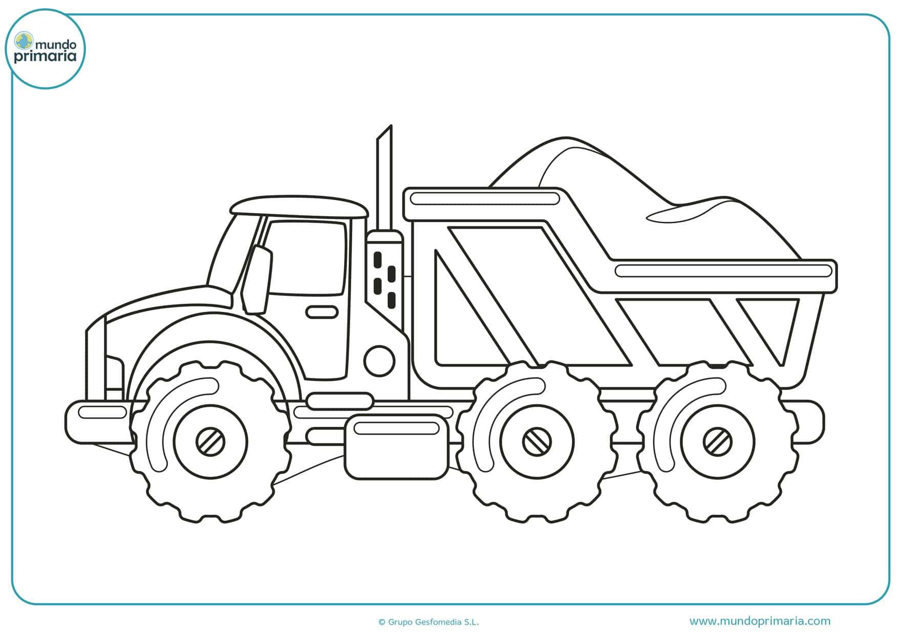 dibujos de camiones para imprimir y colorear