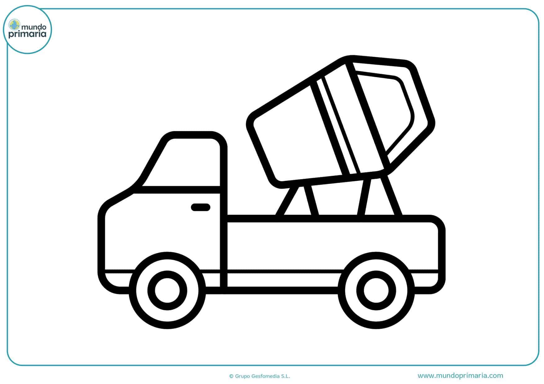 dibujos de camiones para imprimir y pintar