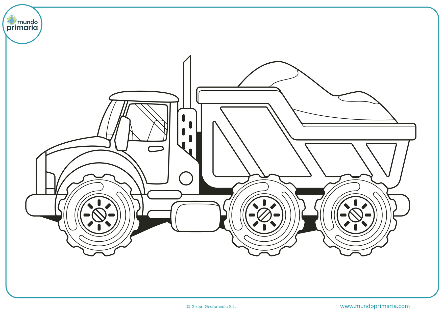dibujos de camiones para pintar