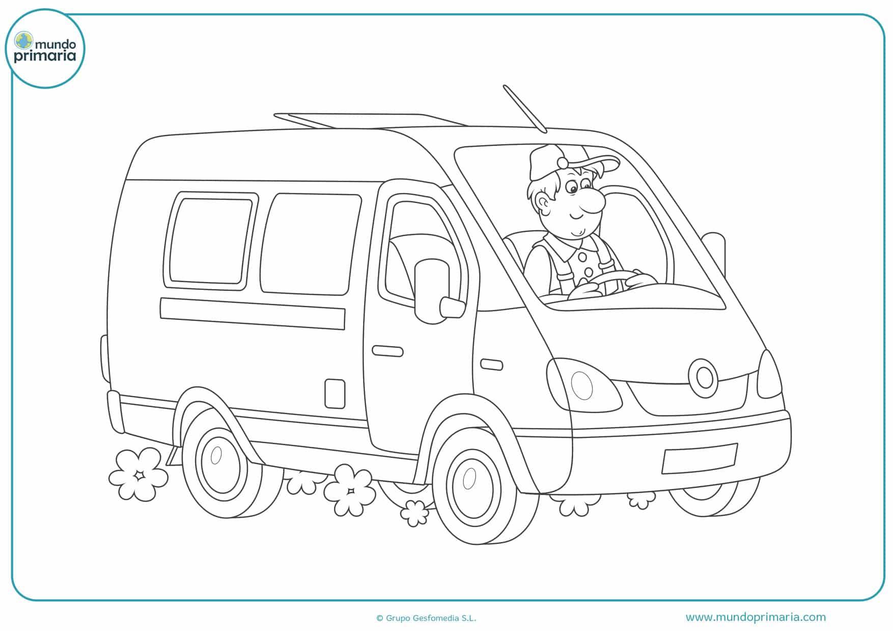 dibujos de camiones pequeños para colorear