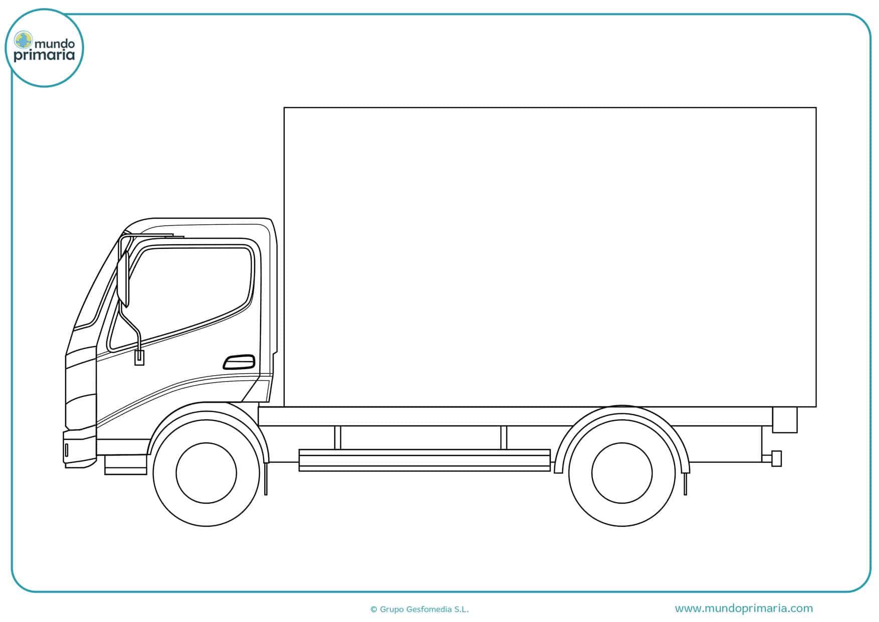 dibujos de camiones scania para colorear