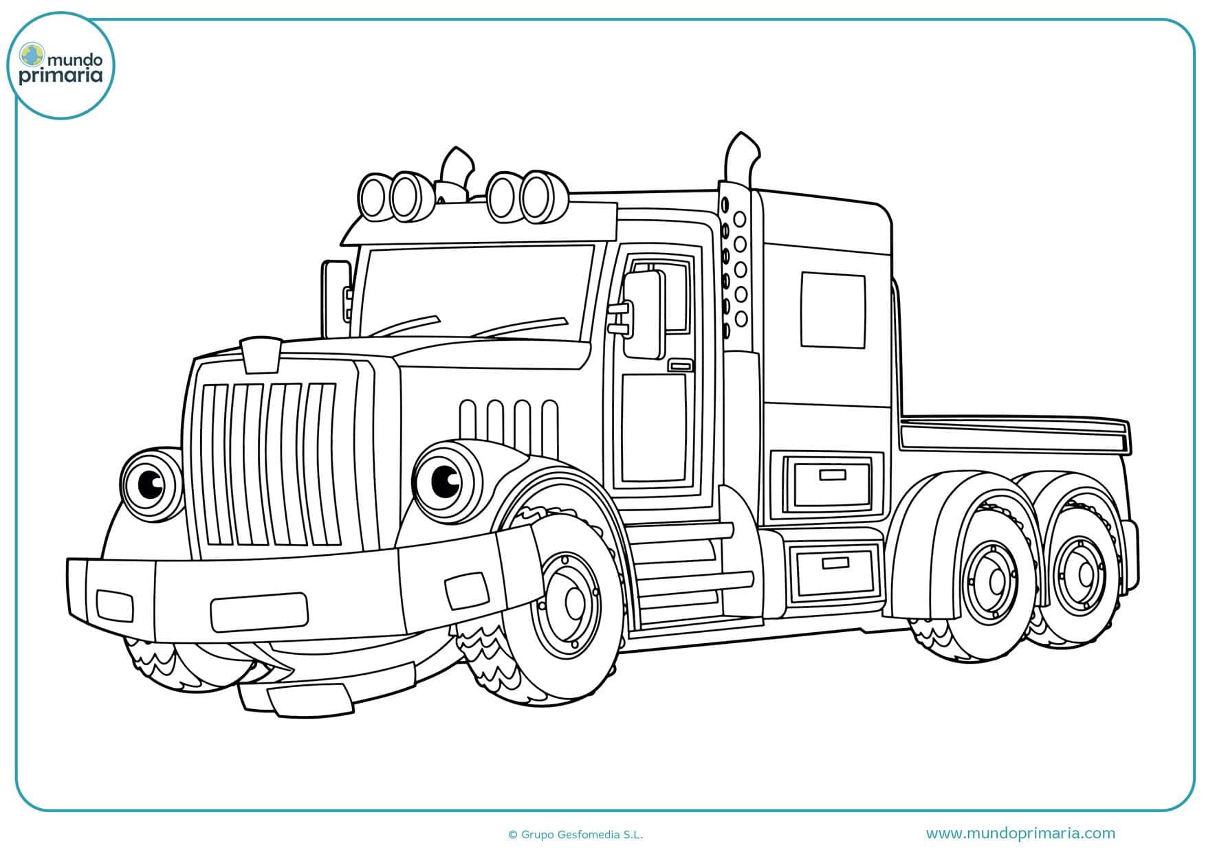 dibujos de camiones de viaje para pintar