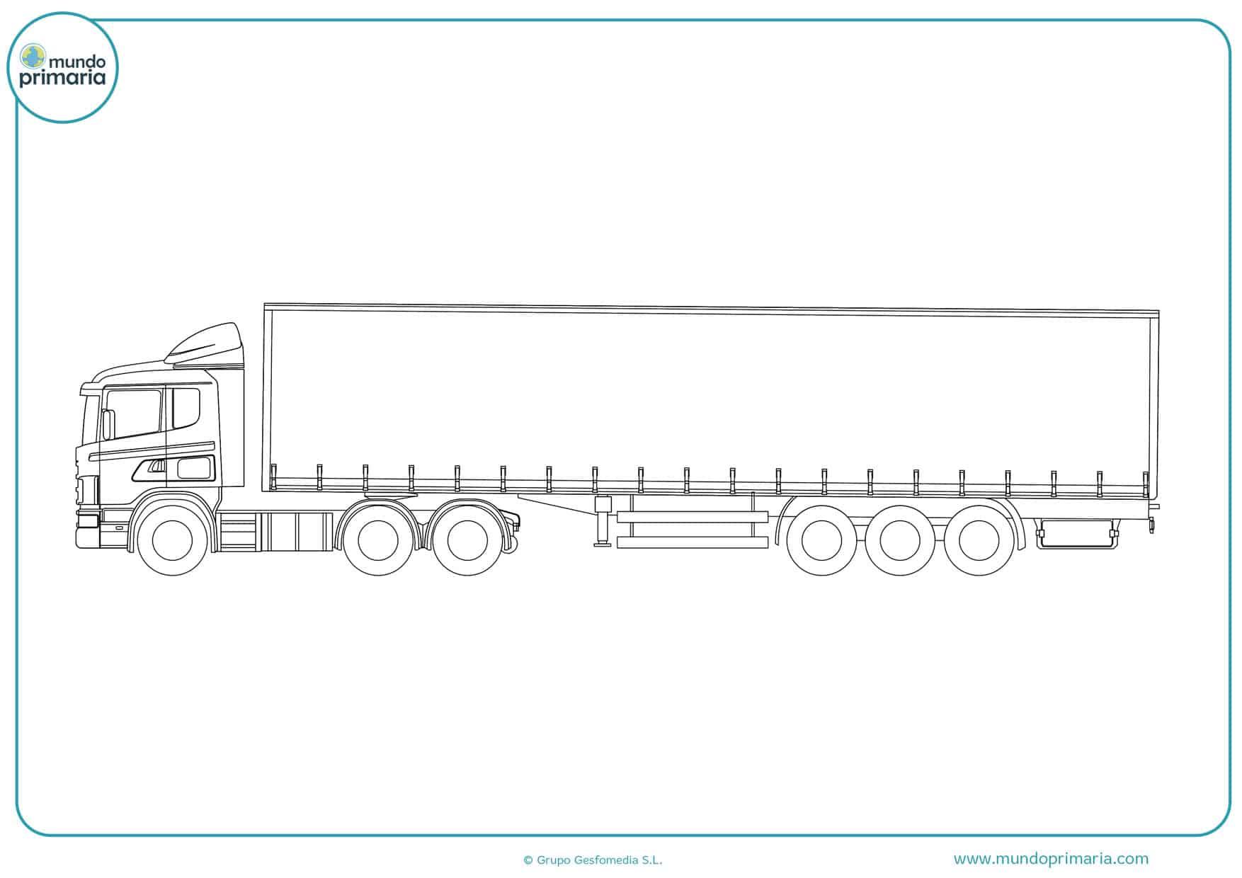 dibujos de camiones volvo para colorear