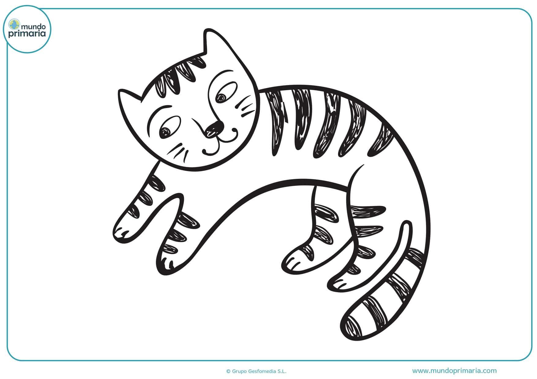 dibujos de caras de gatos para colorear