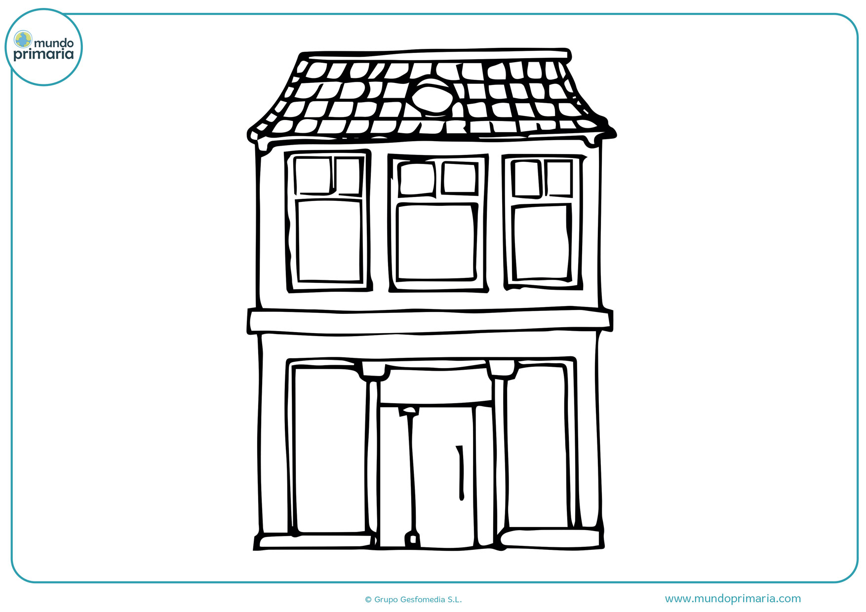 dibujos de casas antiguas para colorear