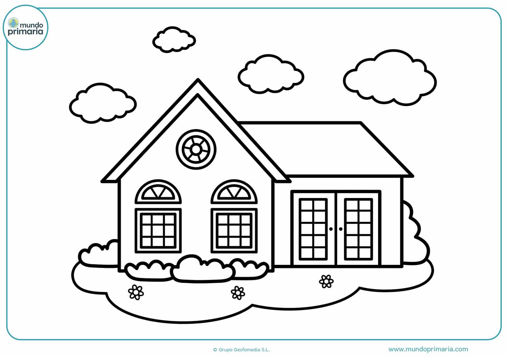 dibujos de casas de campo para colorear