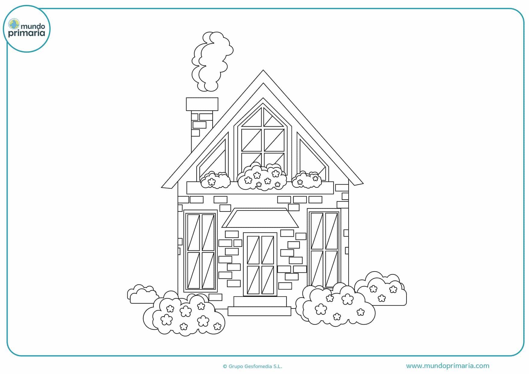 dibujos de casas chinas para colorear