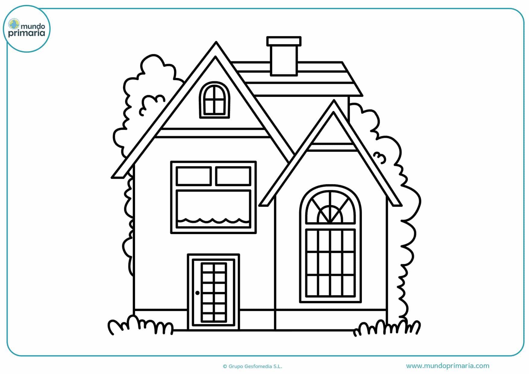 dibujos de casas fáciles para colorear