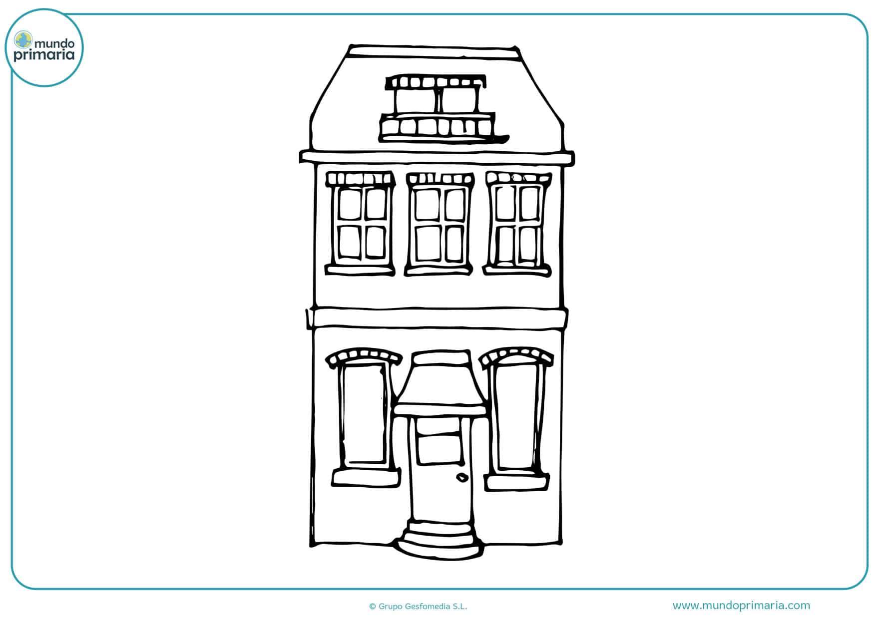 dibujos de casas grandes para colorear