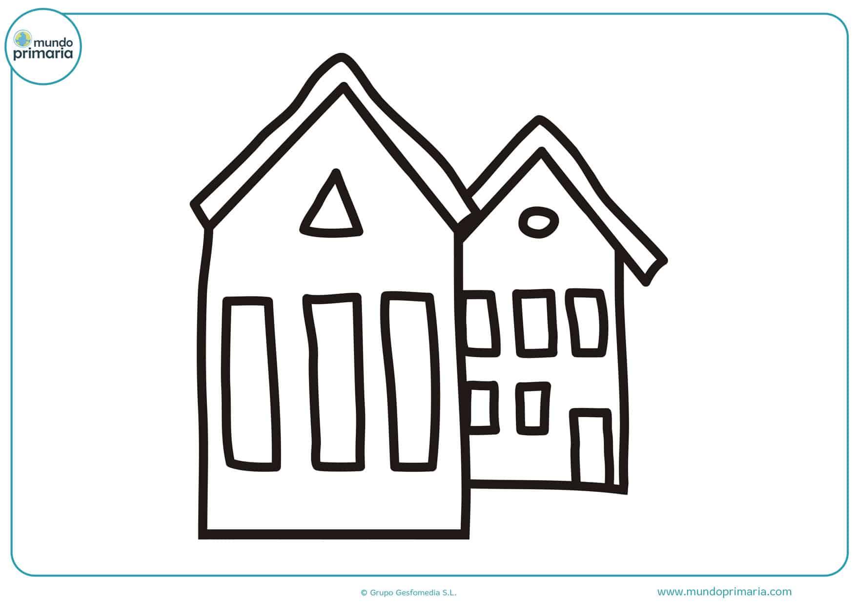 dibujos de casas infantiles para colorear