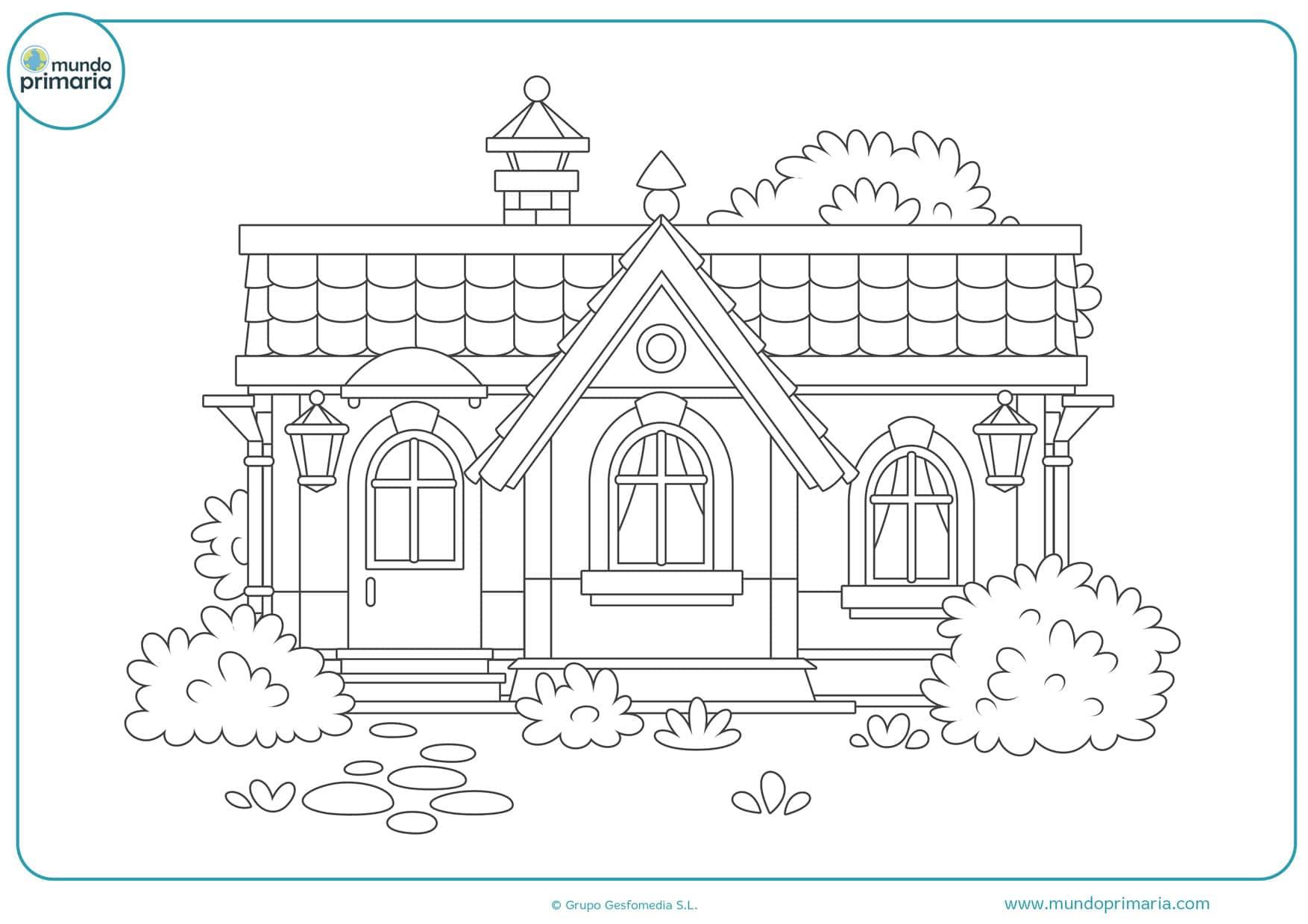 dibujos de casas japonesas para colorear