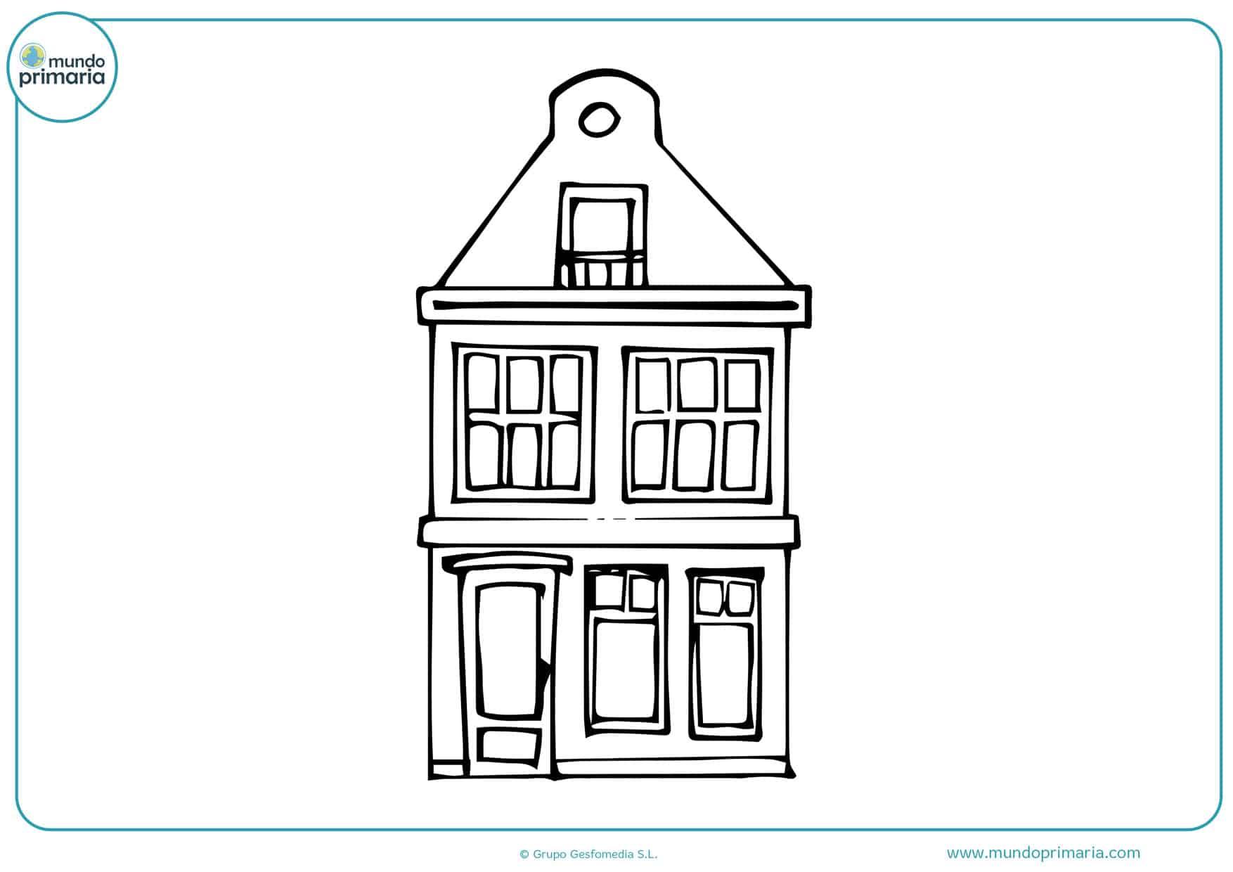 dibujos de casas de muñecas para colorear