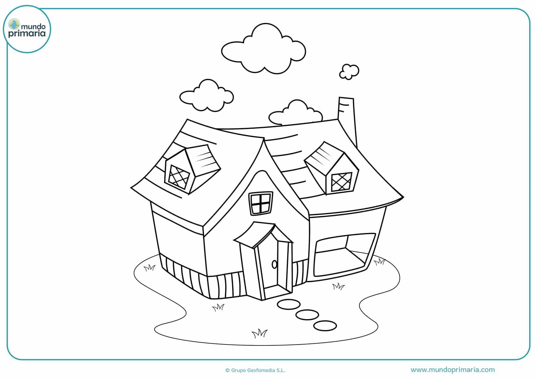 dibujos de casas para colorear e imprimir