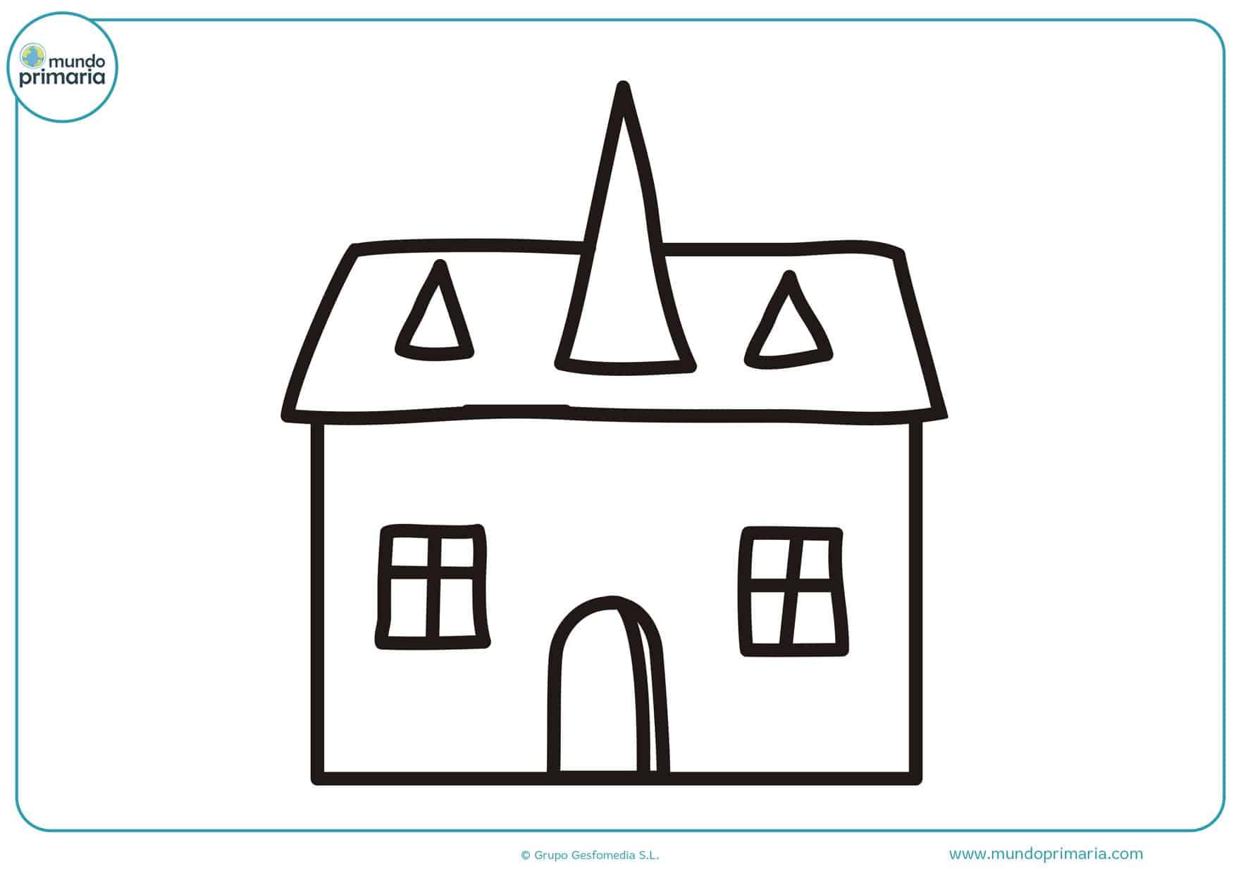 dibujos de casas para colorear en linea