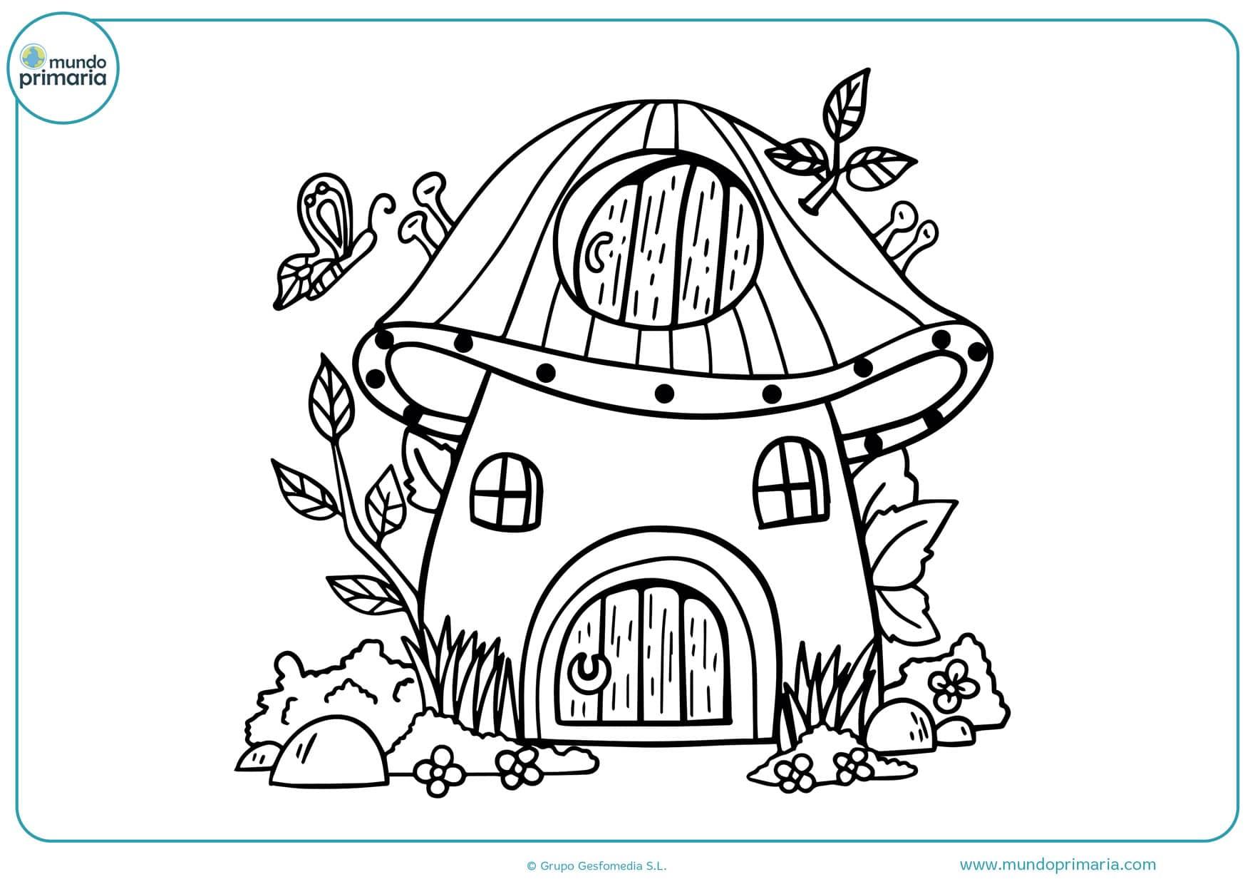 dibujos de casas para colorear para niños