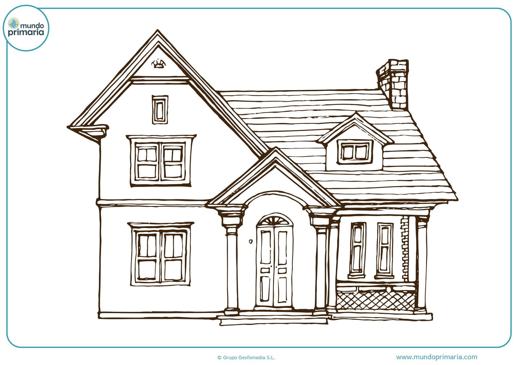 dibujos de casas de pueblo para colorear