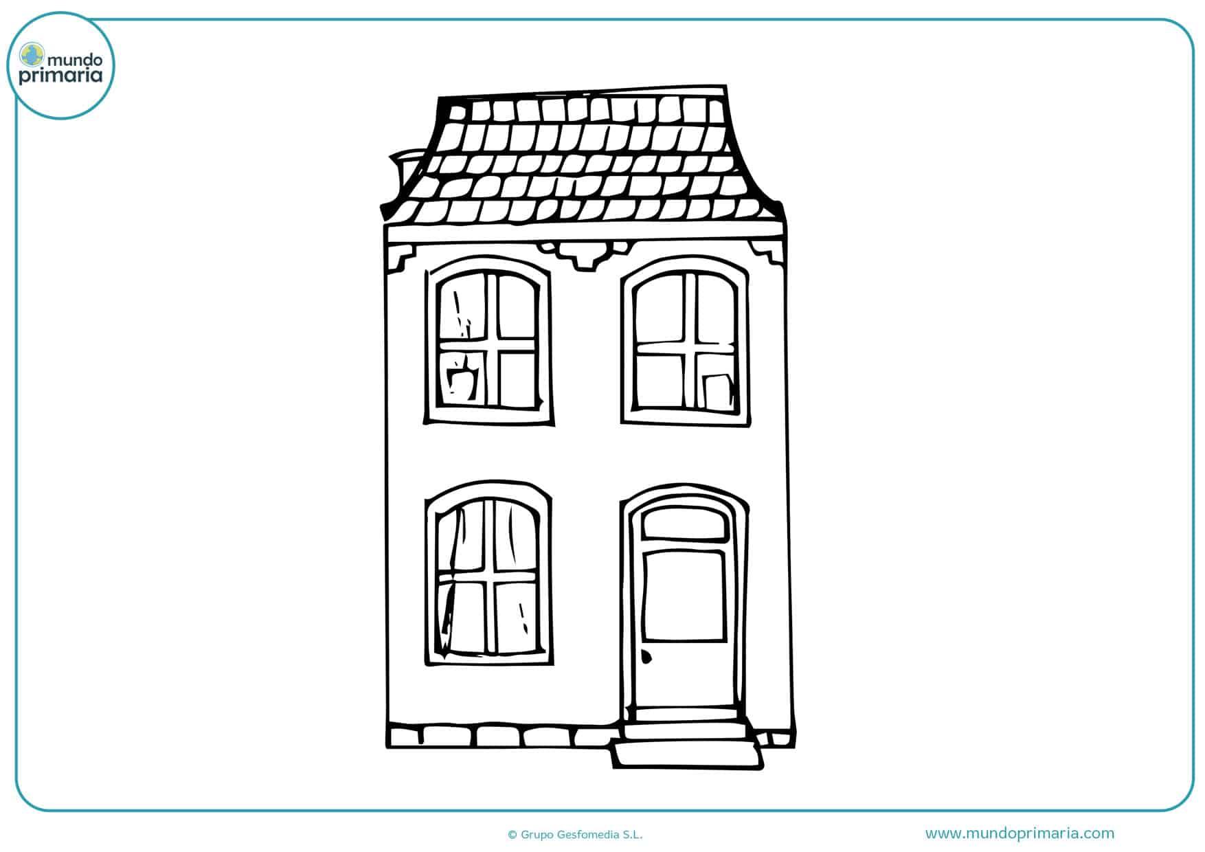 dibujos de casas rurales para colorear