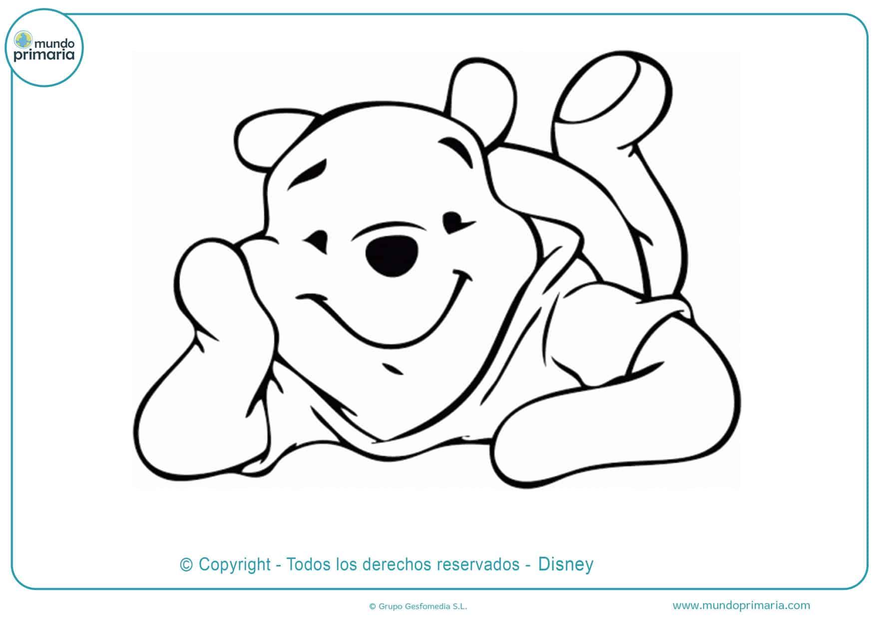 dibujos para colorear de amor de winnie pooh bebe