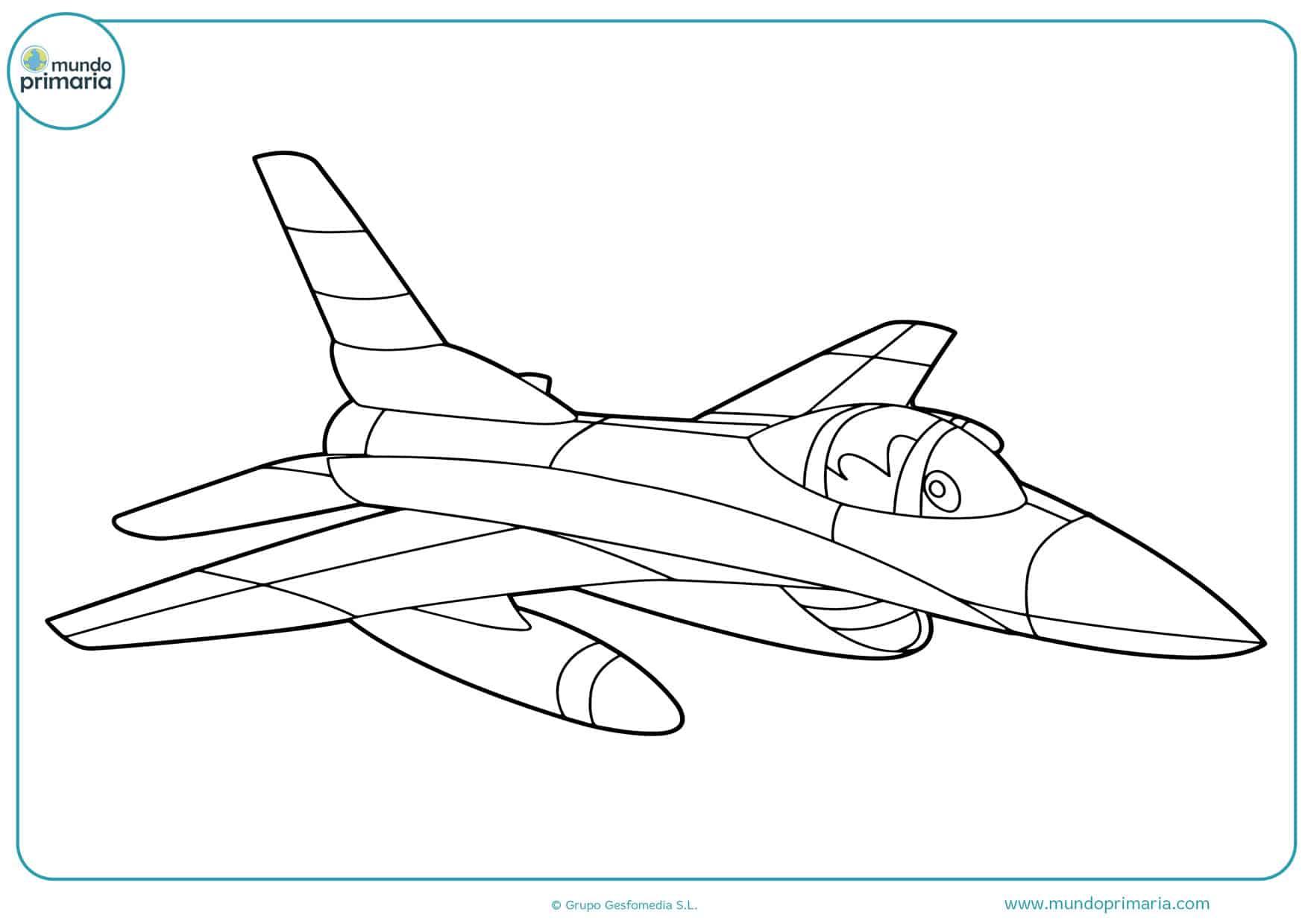 dibujos para colorear aviones equipo de rescate