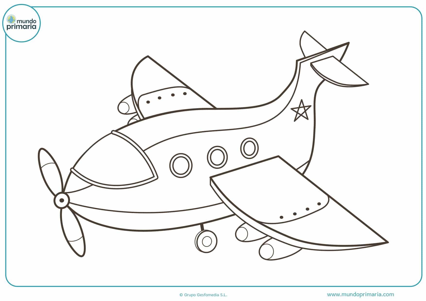 dibujos para colorear aviones de guerra grandes