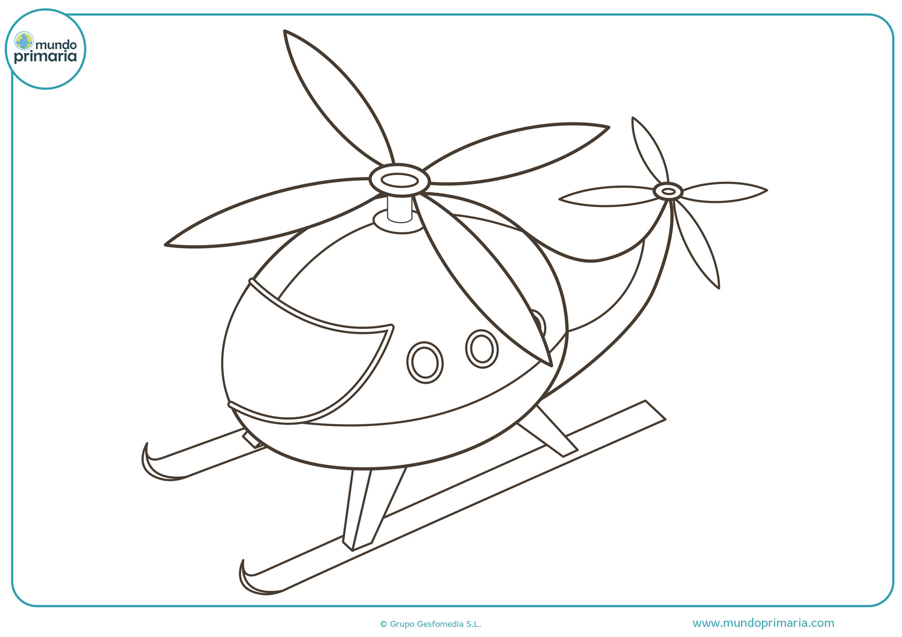 dibujos para colorear de aviones y helicópteros