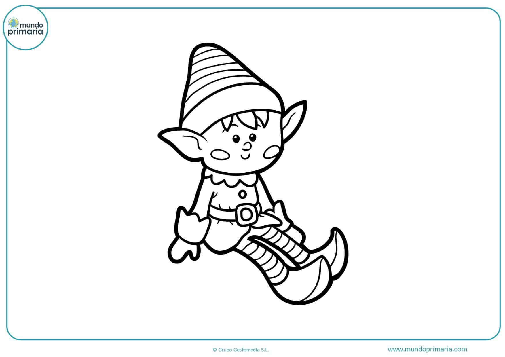 dibujos para colorear e imprimir de duendes