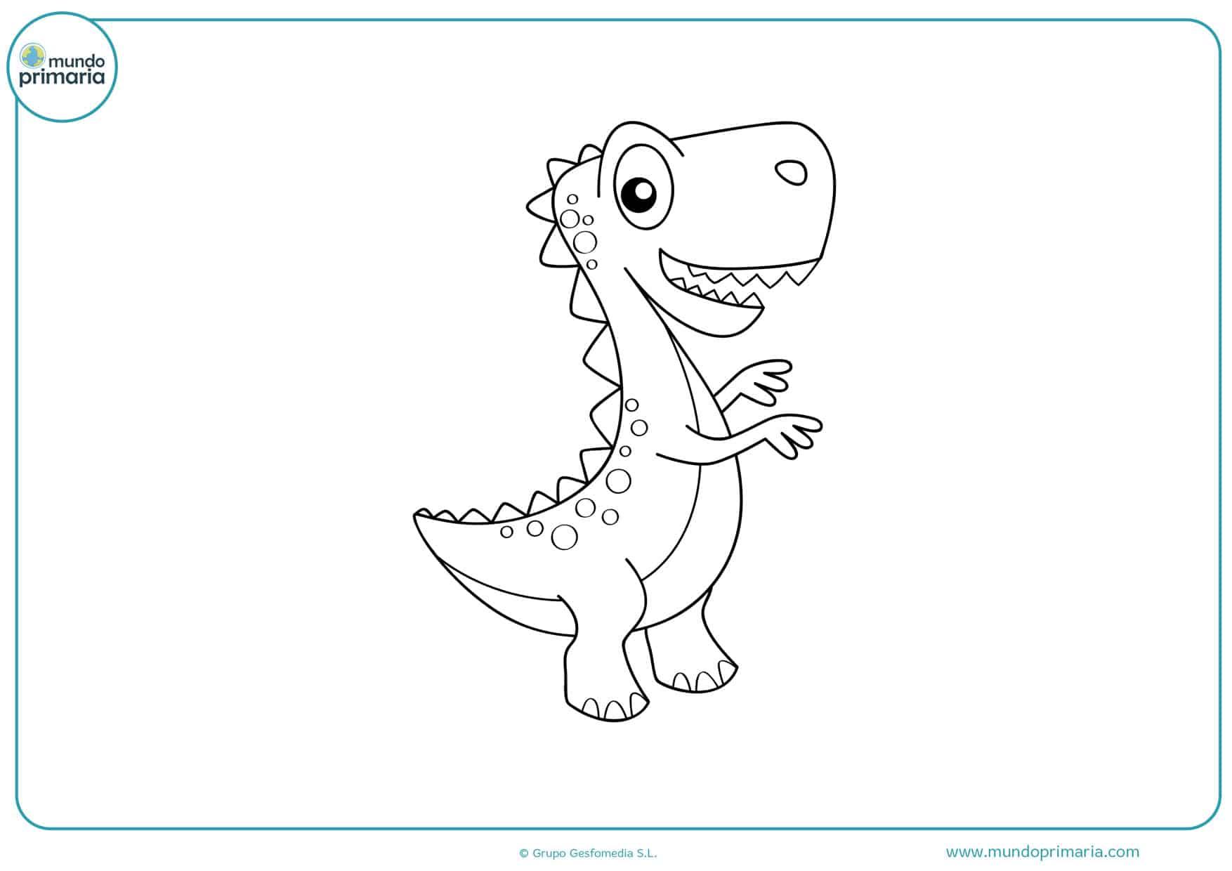 dibujos para colorear e imprimir gratis de dinosaurios