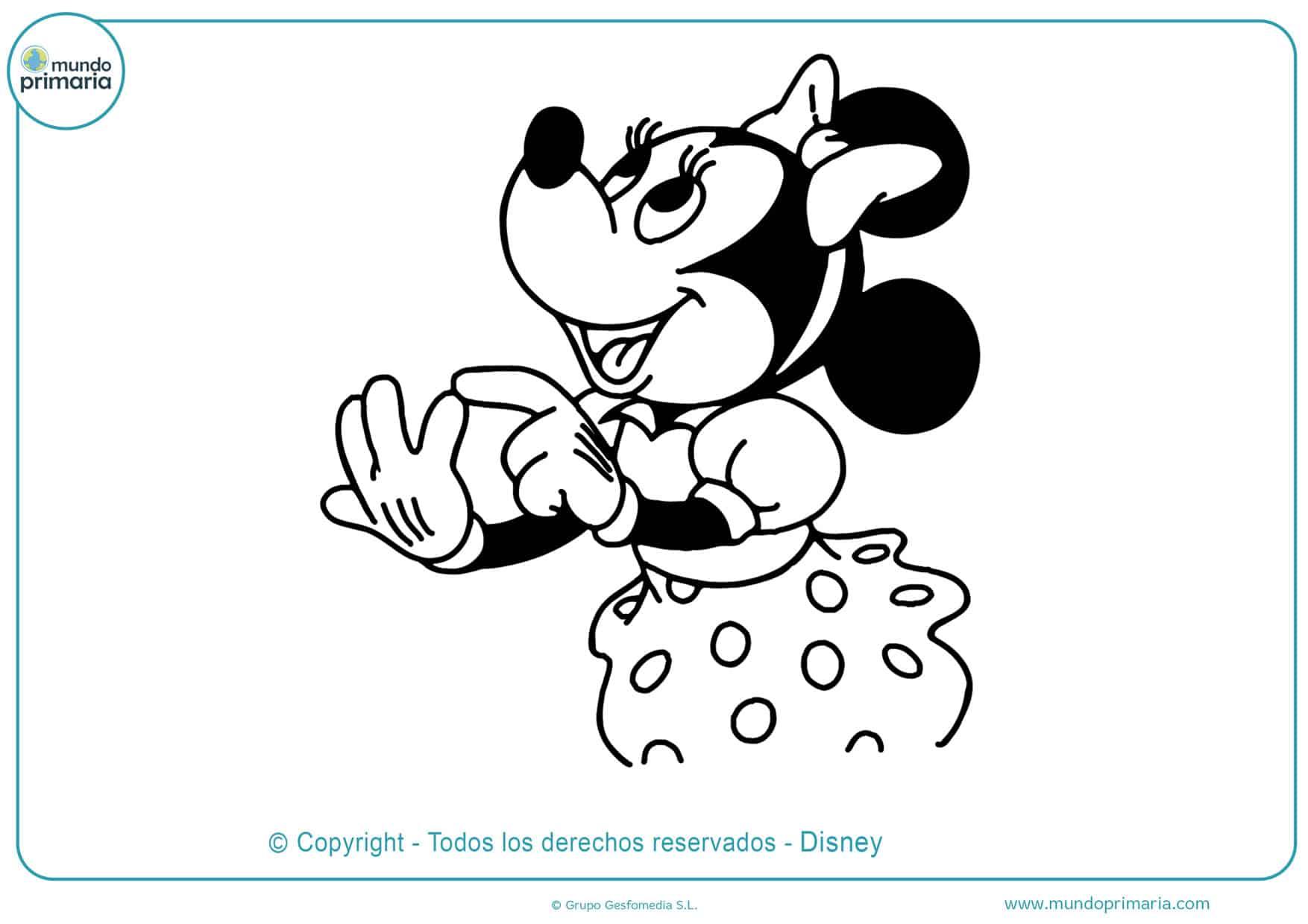 dibujos para colorear y imprimir de minnie mouse