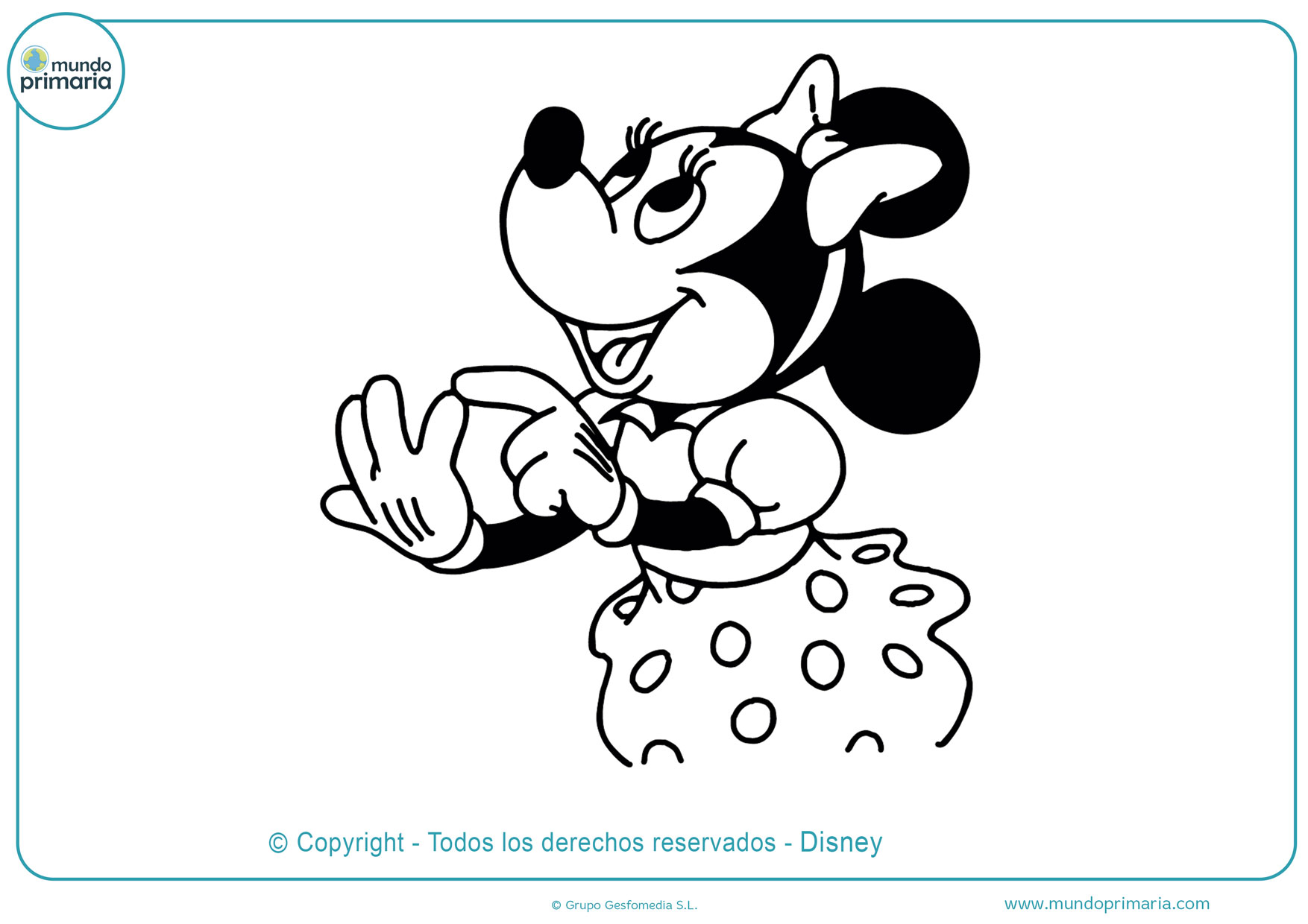 Dibujos De Minnie Mouse Para Colorear
