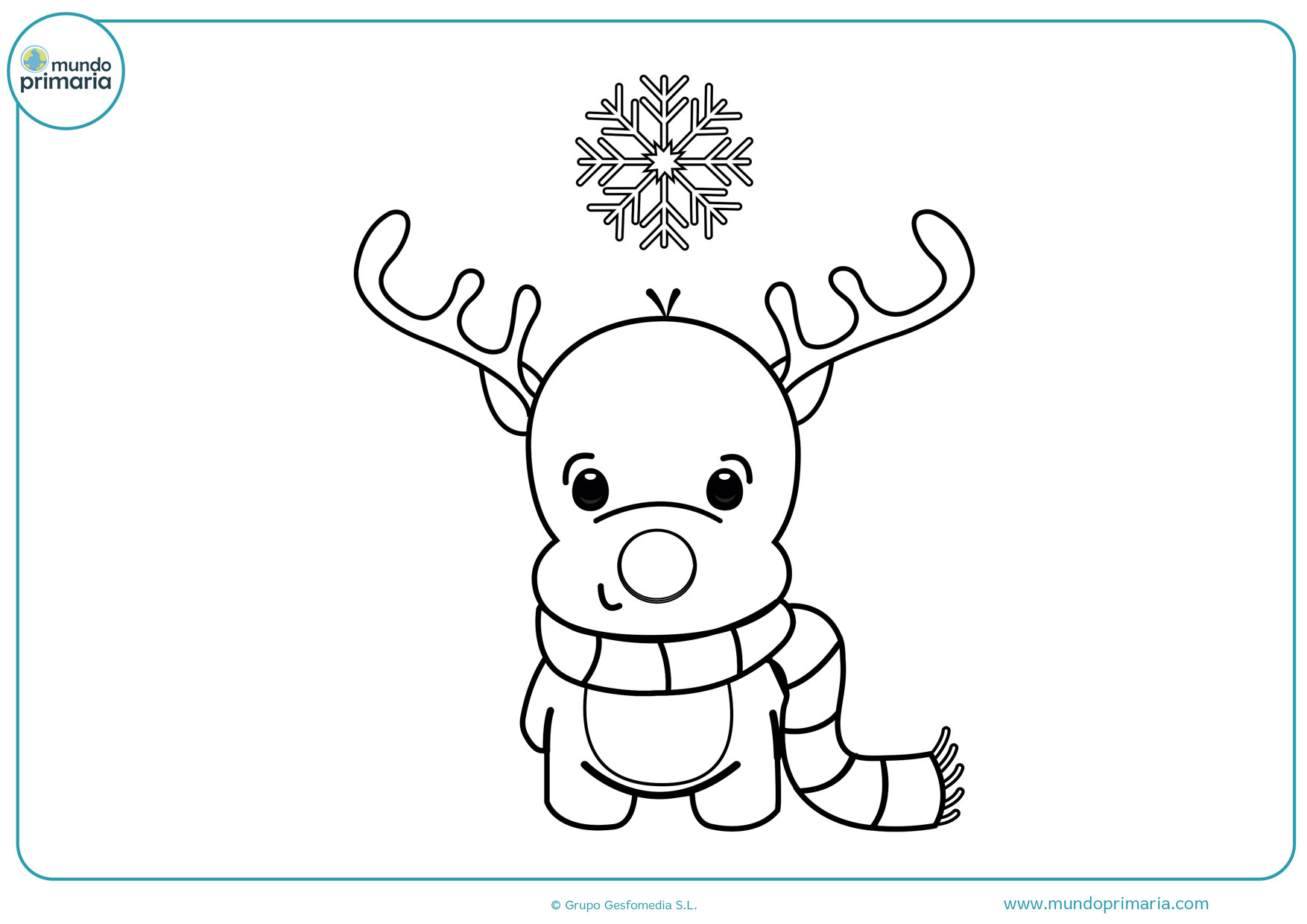 dibujos para colorear de navidad para niños de preescolar