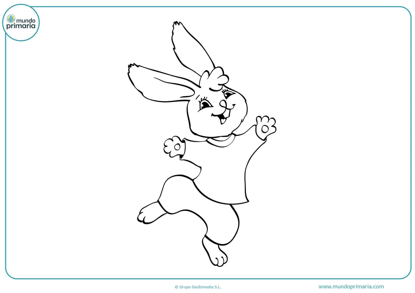 dibujos de conejos infantiles para colorear