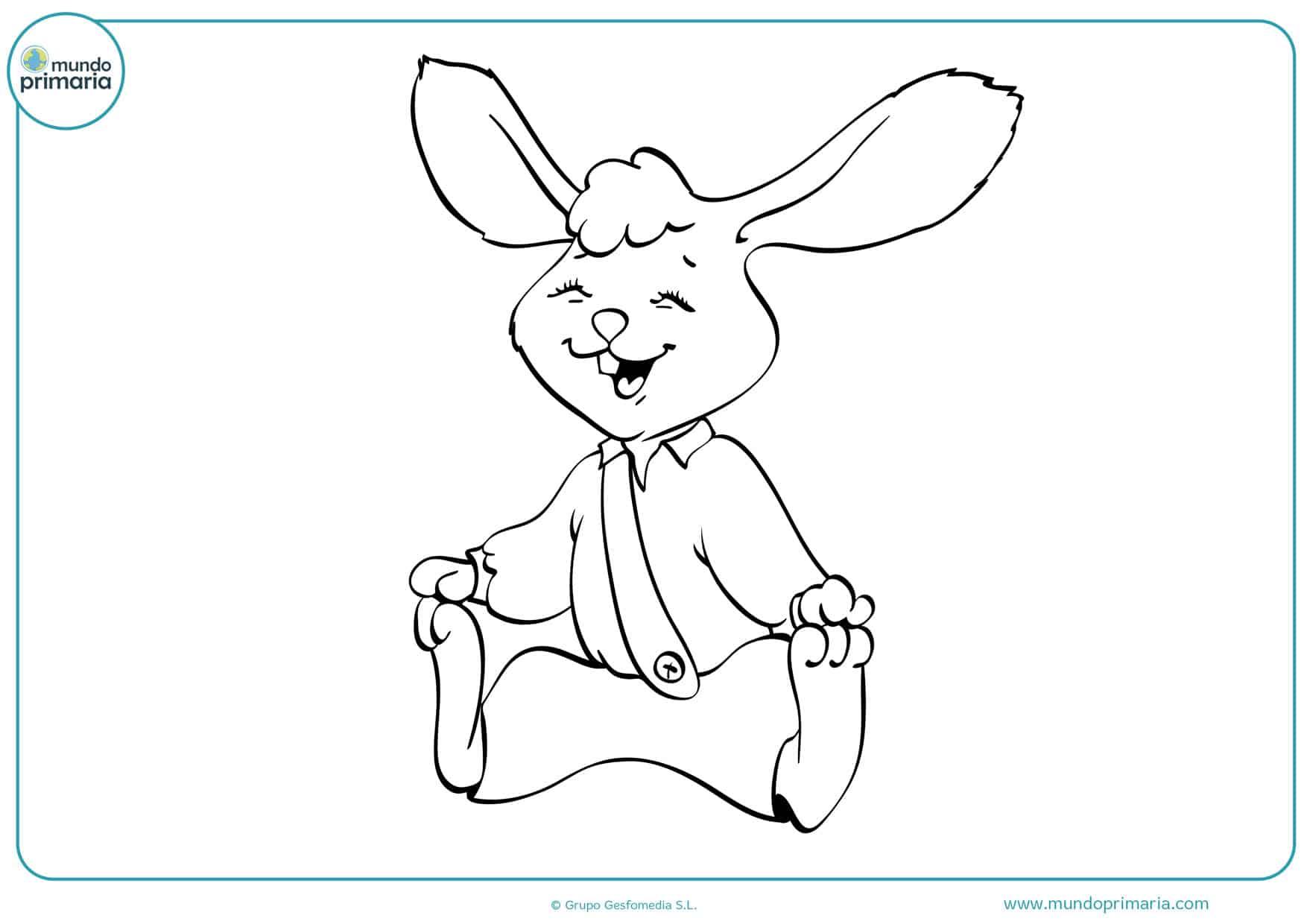 dibujos de conejos para colorear infantiles