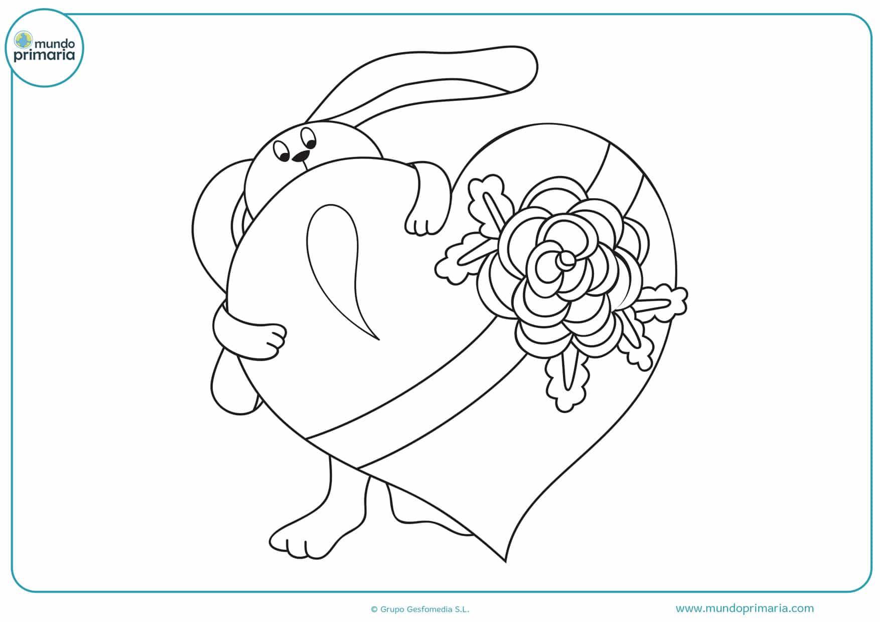 dibujos de corazones de amor para colorear