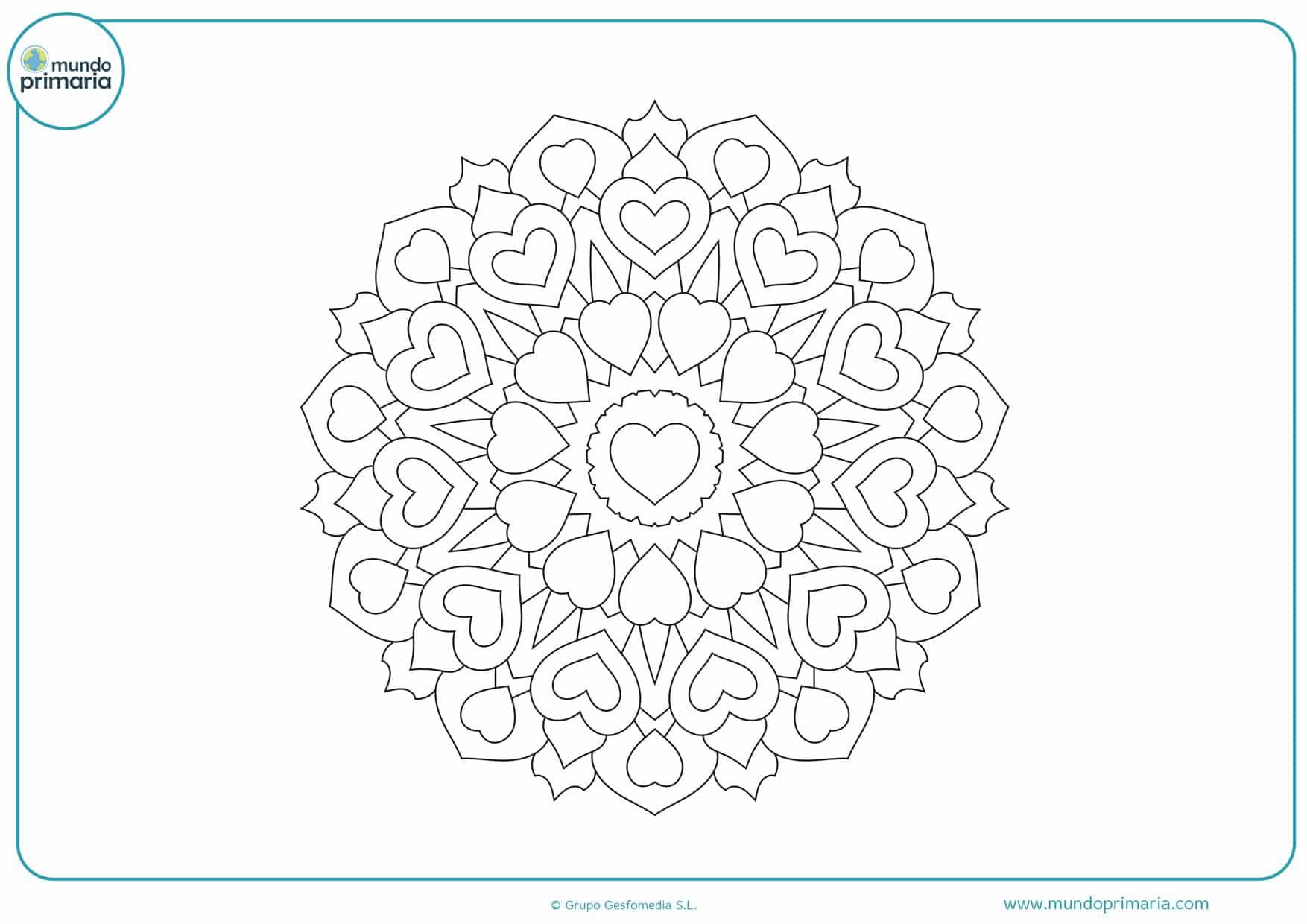 dibujos de corazones para imprimir y colorear