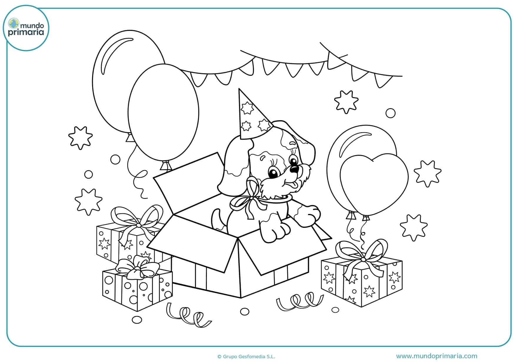 dibujos de cumpleaños para colorear e imprimir