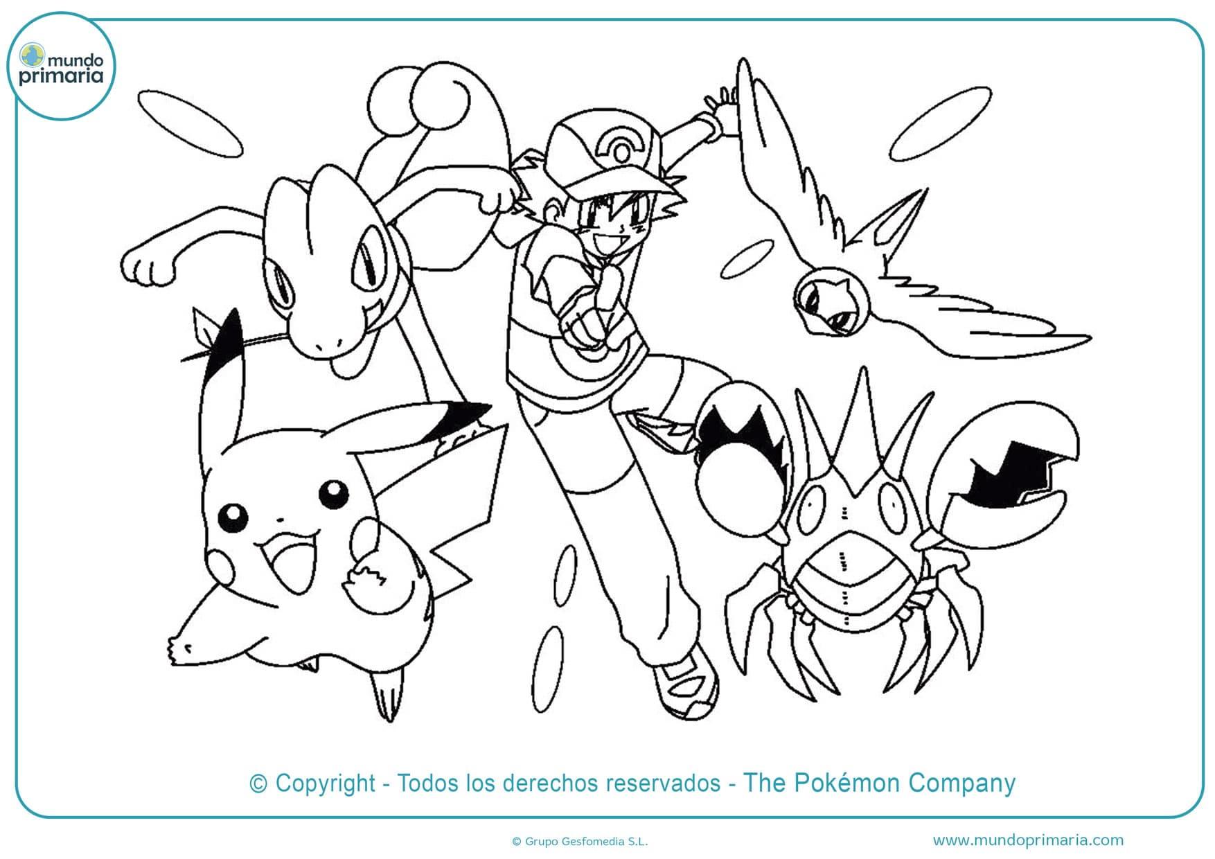 dibujos de detective pikachu para colorear