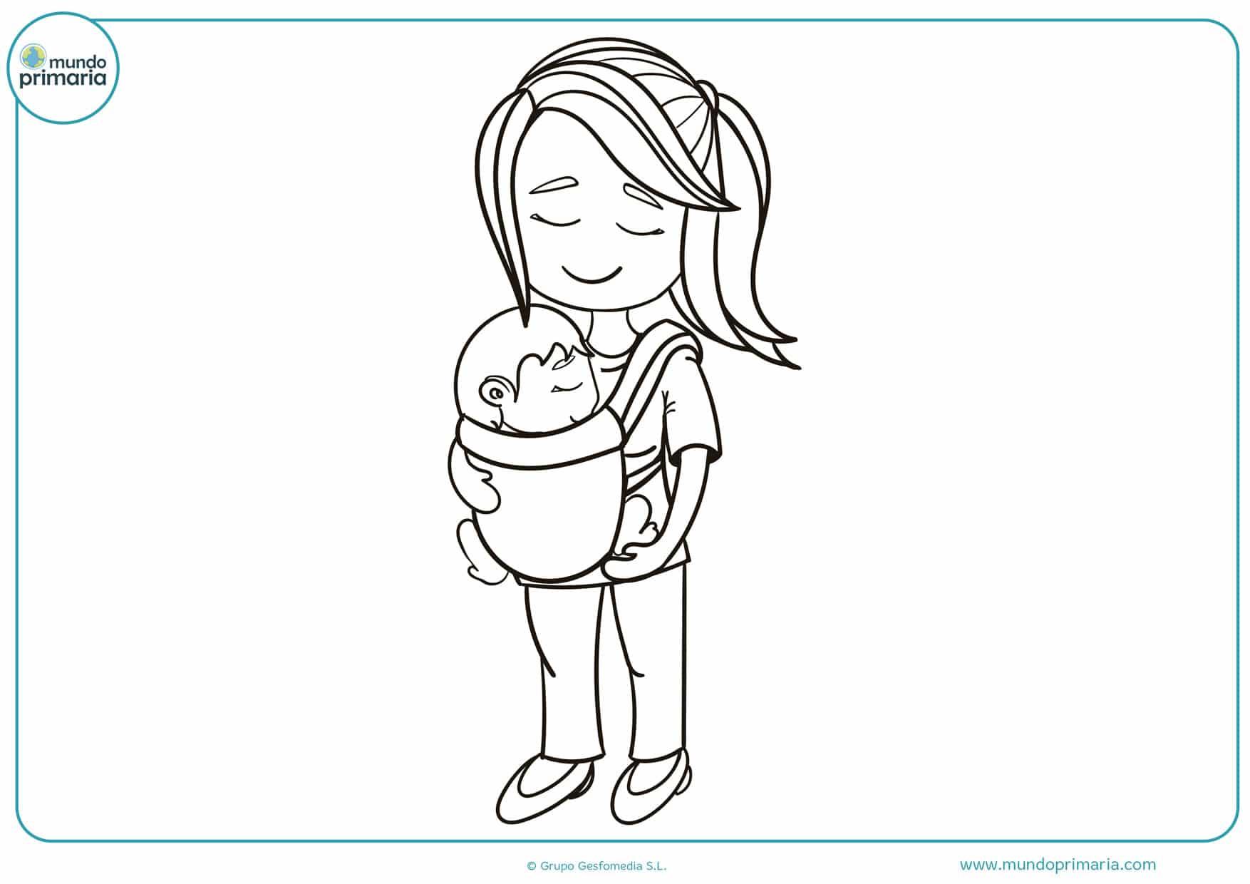 dibujos del día de la madre para colorear bonitos