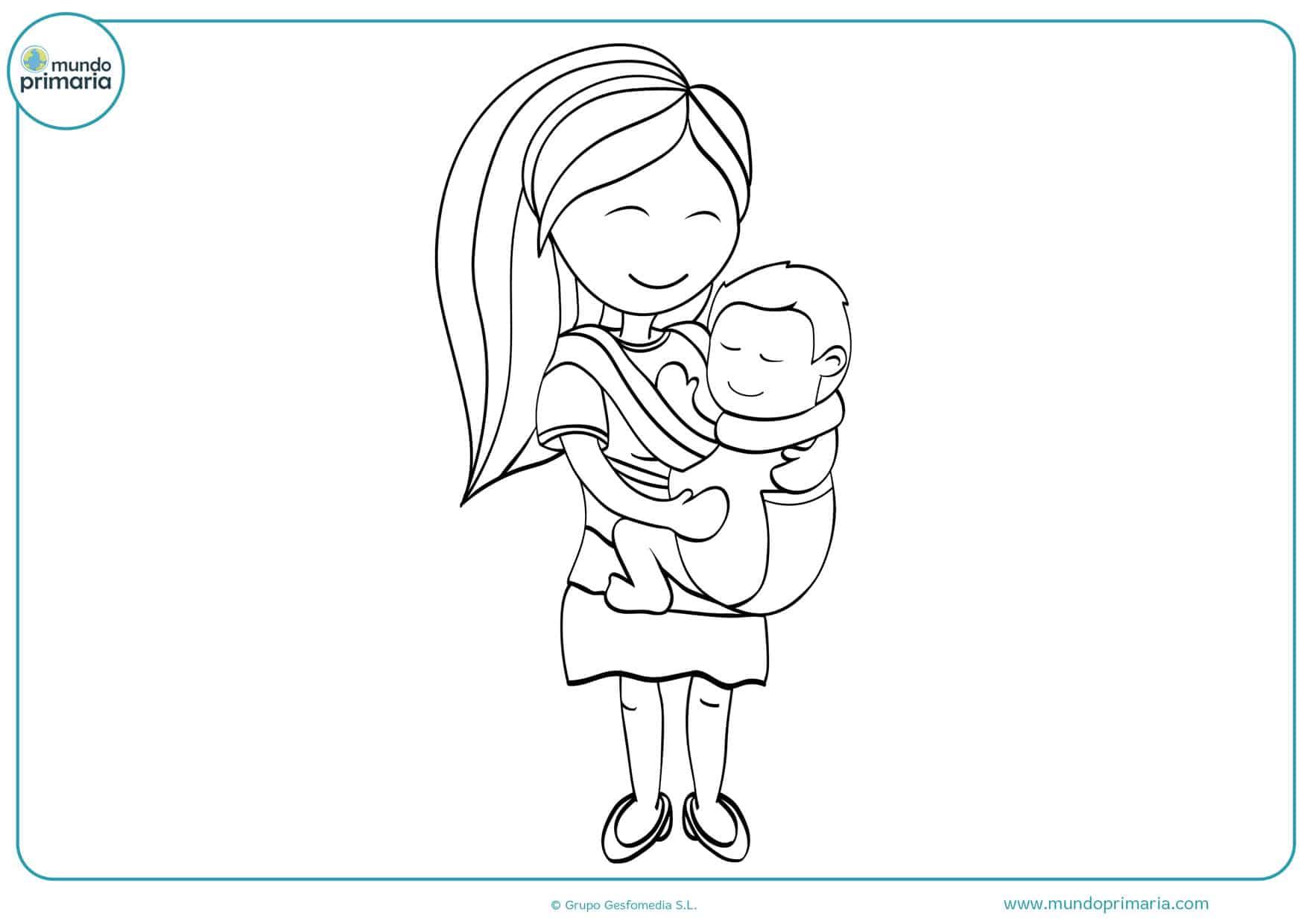 dibujos del día de la madre para colorear difíciles